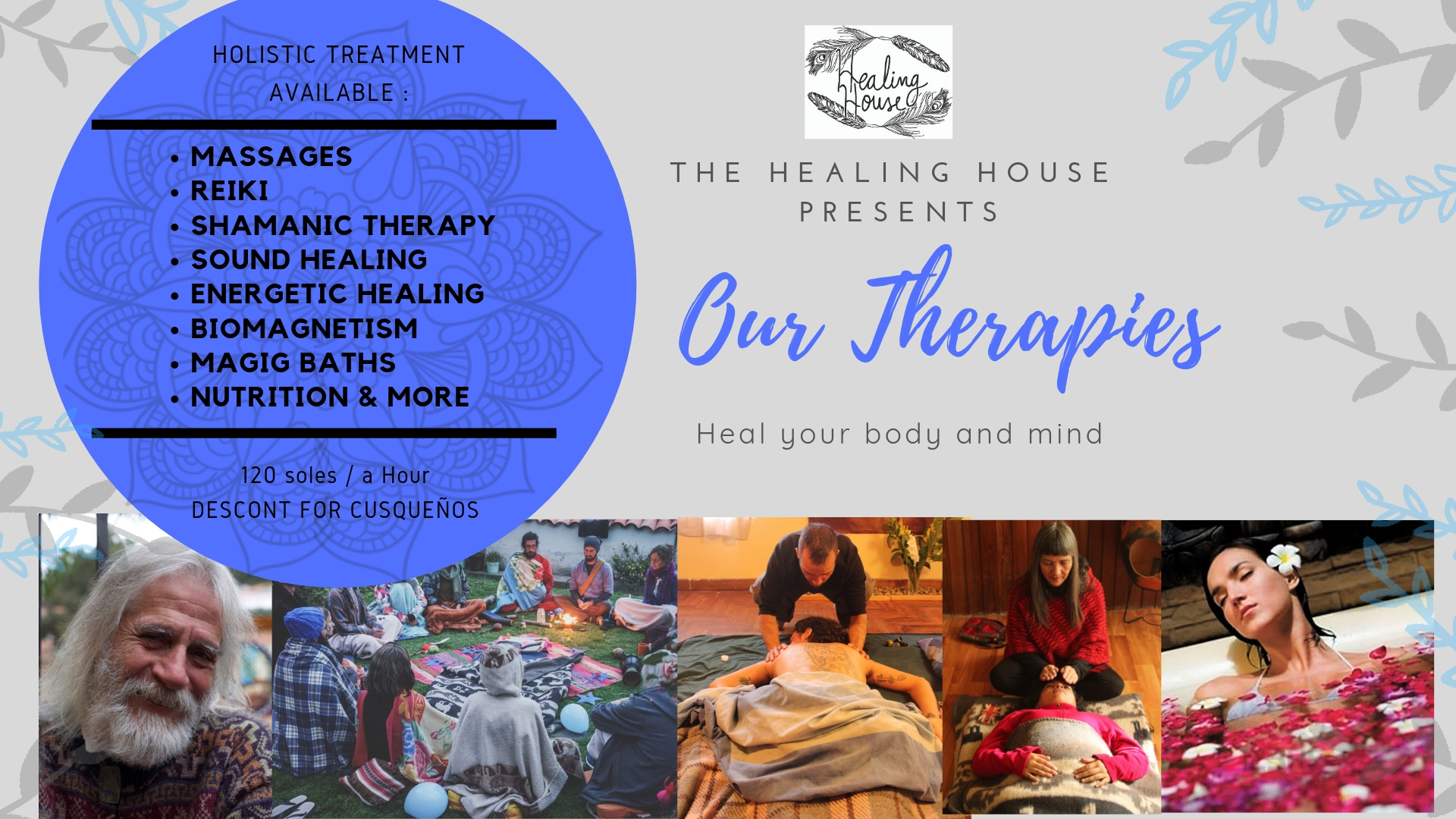 Heal your body and mind: Massage, Reiki, Sound Healing and more