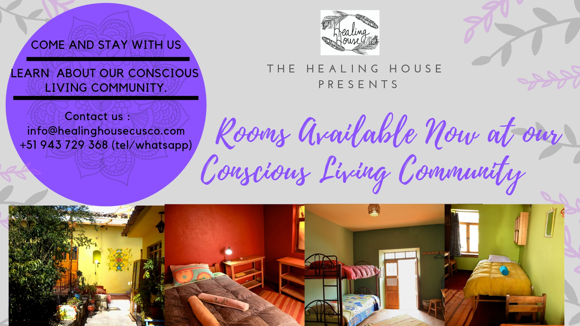 Come and stay with us - Learn about our Conscious Living Program!